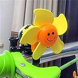 De bicicleta Bell-1 Pack bicicleta de los niños Campanas vespa de la bici Campanas Sun de la flor del juguete del molino de viento de Bell BMX plegable coche lindo del molino de viento coche de la cam