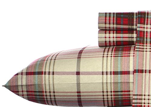 Eddie Bauer Montlake Plaid Flannel Sheet Set, King