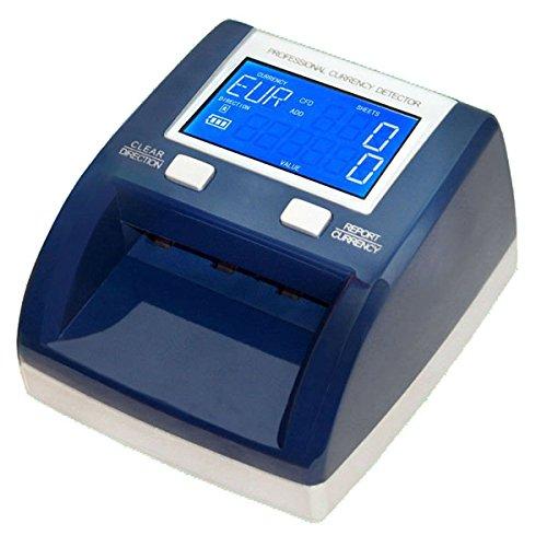 YATEK Detector Billetes Falsos EUR,GBP, SEK, Cuenta Billetes y Suma el importe, actualizable, testado por el BCE, admite nuevos Billetes SE-0320