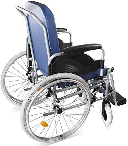 DJY-JY Wheelchairs Stroke Hemiplegia Old Man High Back Seated Toilet Reclining Leg Manual Wheelchair