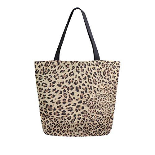 Bolso de mano con asa superior para el hombro con estampado de leopardo sexy para mujeres y niñas