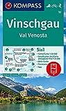 KOMPASS Wanderkarte Vinschgau /Val Venosta: 5in1 Wanderkarte 1:50000 mit Aktiv Guide, Detailkarten und Panorama inklusive Karte zur offline Verwendung ... Skitouren. (KOMPASS-Wanderkarten, Band 52)