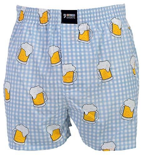 Happy Shorts Webboxer Herren Boxer Motiv Boxershorts Farbwahl, Grösse:L - 6-52, Präzise Farbe:Design 5