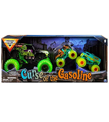 Monster Jam Curse of The Gasoline Diecast Car 3-Pack