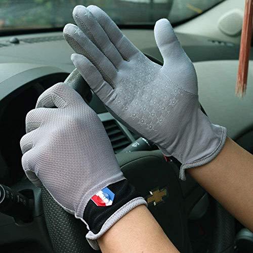 Sksngf Guantes de protección solar de la serie de pantalla táctil de la palma entera, pantallas táctiles de algodón guantes de protección solar para hombres, antideslizantes, manejo y ciclismo, guante