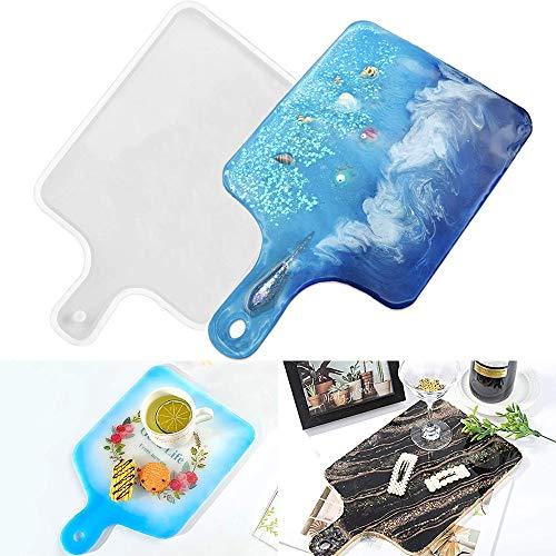 Stampi per stampi in resina epossidica vassoio fai-da-te, stampaggio con resina epossidica, Stampo in silicone resina creativa, Artigianato fai da te, Stampo per tagliere per cupcakes Dessert