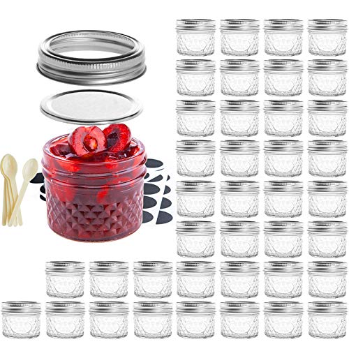 SXUDA Mason Jar BPA-Free 4oz Mini Canning Jars with Regular Lids