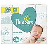 Baby Wipes, Pampers Sensitive Water Baby Diaper Wipes, Hypoallergenic &...
