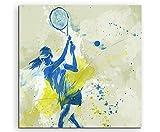 Paul Sinus Art Tennis III 60x60cm SPORTBILDER Splash Art Wandbild Aquarell Art