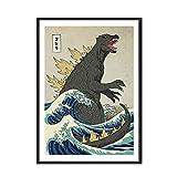 N / A Big Beast Art Poster of Dinosaur Picture Poster Utilizado para la Pintura Decorativa de la Lona de la Pared en la habitación del Muchacho sin Marco 30x42cm