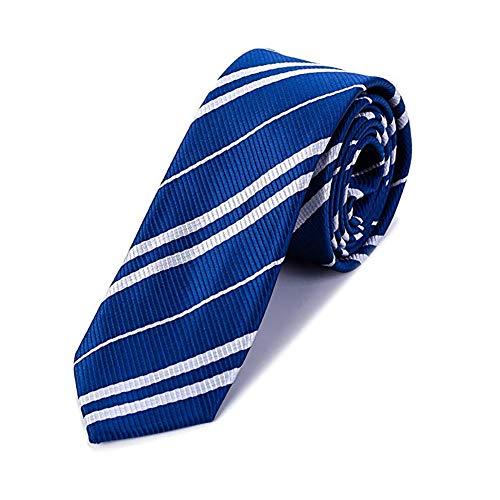 Funnlot Schulkrawatte Party-Krawatte Cosplay Krawatte für Party Kostüm Krawatte für Halloween Weihnachten Party Kostüm Zubehör – Krawatte Party täglichen Gebrauch (blau)