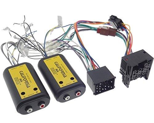 Verstärker Adapter 4 Kanal Cinch Kabel Rundpin Stecker kompatibel mit BMW E30 E32 E34 E36 E38 E39 E46