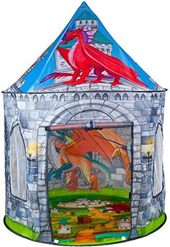 Benebomo Carpas para niños Pterosaurio,Tiendas de campaña,Tipi para niños, casita para Jugar, casita para bebés, casita para Carpas,Carpa para jardín, con una Bolsa de Transporte, niños y niña