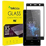 Tektide Screen Protector Compatible for Sony Xperia XZ2 Premium, [Edge to Edge Coverage] 3D Curved Fit Drop-protection Shatter-proof Safety Laminated Tempered Glass Display Shield [2 Pack]