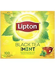 Lipton Flavoured Black Tea Mint, 100 Teabags