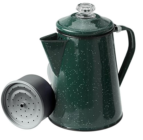 GSI Outdoors 8 Cup Enamelware Percolator Coffee Pot