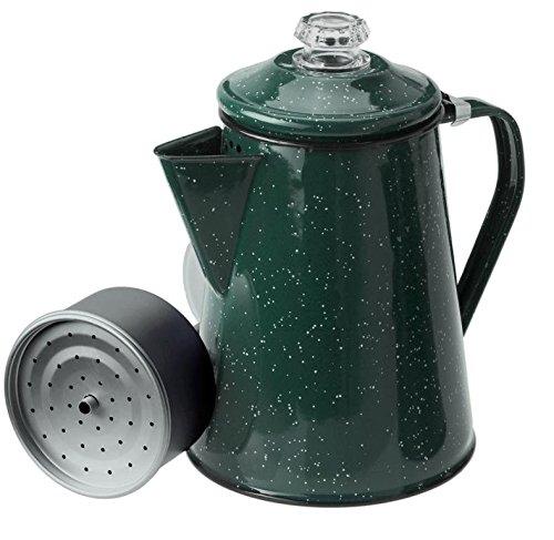 GSI Outdoors 8 Cup Enamelware Percolator Coffee Pot