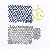 LZBRDY Fishing Net and Fish Metal Cutting Dies for Card Making and Scrapbooking Birthday Thanksgiving Christmas Craft Die Cuts