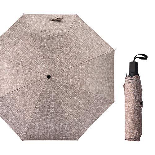 SCKL Paraplu, Compacte Reisparaplu Winddichte Versterkte luifel Zakelijke Denim Kleur Paraplu Dual-Use Vouwen Zwart Kunststof Zonnescherm