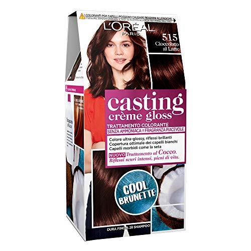 L'Oréal Paris Casting Creme Gloss, tratamiento colorante para el cabello, sin amoniaco para una fragancia agradable. Marron Chocolat 515