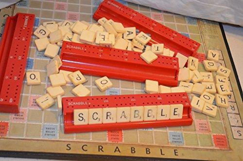 Scrabble 1966 Deluxe Version with Scoring Racks No. 71 Revolving Board
