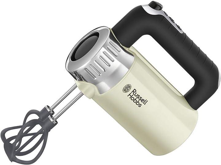 Sbattitore elettrico russell hobbs retro style 500 w acciaio inox crema 25202-56