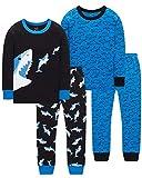Pajamas For Boys Sharks PJs Toddler Kids Christmas Pyjamas Children Baby Clothes 4 Pieces Pants Set...