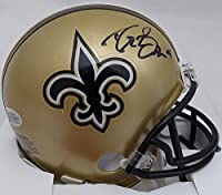 Drew Brees Autographed New Orleans Saints Mini Helmet Beckett BAS