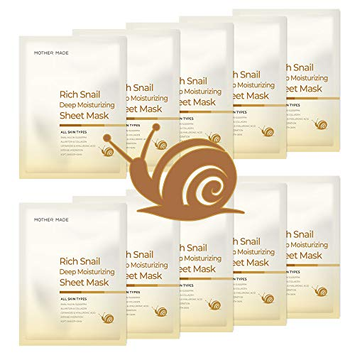MOTHER MADE Rich Snail Deep Moisturizing Korean Face Sheet...