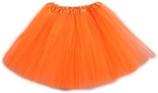 Girls/Women Solid Color Classic Elastic Tulle Tutu Skirt Puffy Tutu Petticoat Ballet Dance Mini Skirt