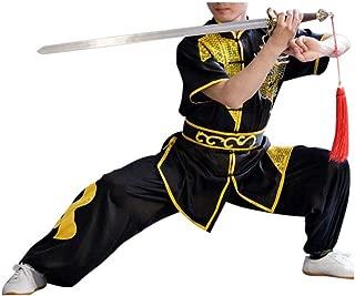 Mens Boys Childrens Kids Kung Fu Master Tai Chi Dragon Chinese Uniform Outfit Costume Top Shirt Pants Set