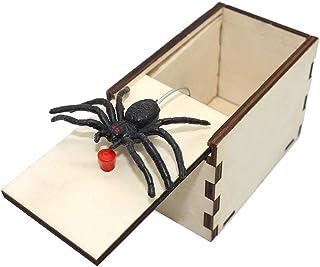 DE Spider Prank Scare Box,Wooden Surprise Box,Handmade Fun Practical Surprise Joke Boxes ,Gags & Practical Joke Toys