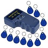 LIBO Portátil 125khz RFID Duplicador Teclear Copia Lector Escritor ID Tarjeta Clonador Programador + 10pcs Escribir EM4305/T5577 Teclear Tarjeta Llavero