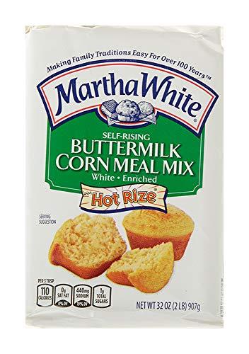 Martha White Self-Rising Buttermilk White Corn Meal Mix, 32 Ounces