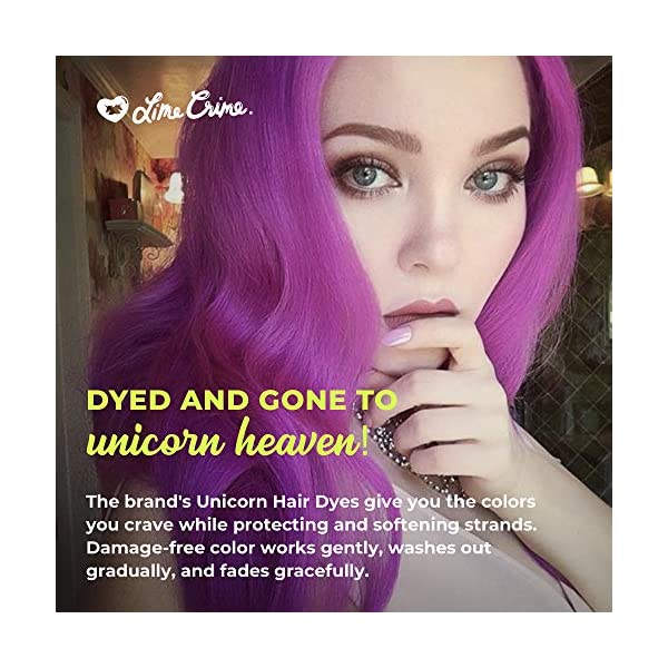 Lime Crime Unicorn Hair Dye, Pony - Electric Violet Purple Hair Color - Full Coverage, Ultra-Conditioning, Semi… 6