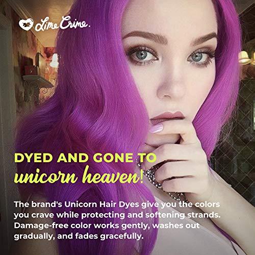 Lime Crime Unicorn Hair Semi-Permanent Hair Dye Pony (Electric Violet) Fantasy Hair Color, 6.7 Ounces