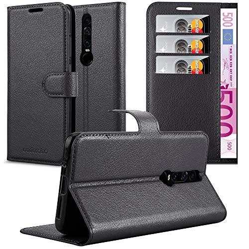 Cadorabo Hülle für Huawei Mate RS in Phantom SCHWARZ - Handyhülle mit Magnetverschluss, Standfunktion & Kartenfach - Hülle Cover Schutzhülle Etui Tasche Book Klapp Style