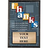 Corporate Plaques - 5 x 7 Thank You Recognition Trophy Plaque Award Prime