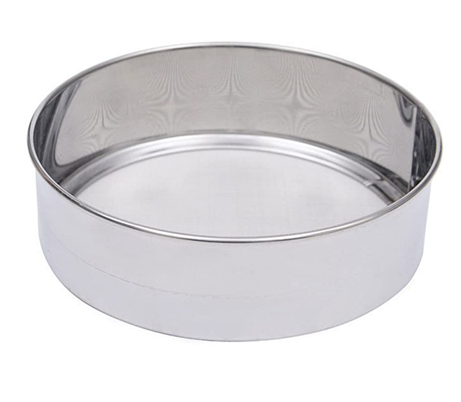 Chuanyue Kitchen Fine Mesh Flour Sifter Professional Round Stainless Steel Flour Sieve with 40 Mesh
