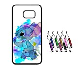 THEcoque Coque Silicone Bumper Souple Samsung Galaxy S6 Edge -LILO & Stitch Mignon Feather Swag...