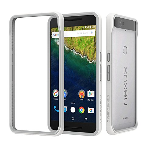 RhinoShield Case Compatible with [Nexus 6P] | CrashGuard - Shock Absorbent Slim Design Protective Cover [3.5M / 12ft Drop Protection] - White