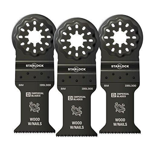 Buy Bargain Imperial Blades IBSL300-3 Starlock 1-3/8 Wood/Nail Blade - 3 Blades Per Package