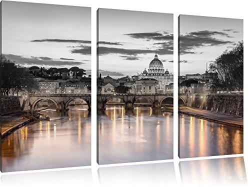 Pixxprint Basilica di San Pietro a Roma Stampa su Tela 3 Parti Artistica murale