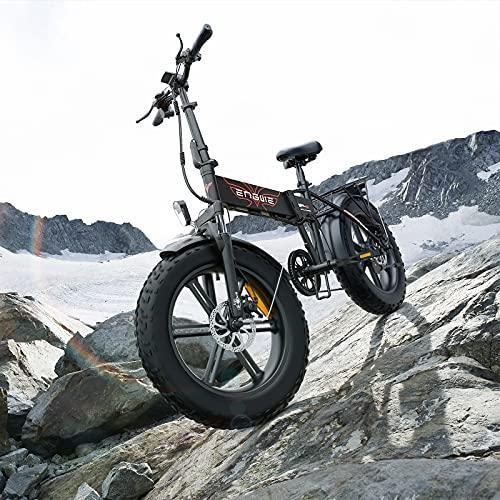 RUBAPOSM Bicicletas Eléctricas Plegables, Bicicleta Eléctrica de 20 Pulgadas con Batería de Litio Extraíble de 36V 10Ah, Capacidad Carga 120 kg