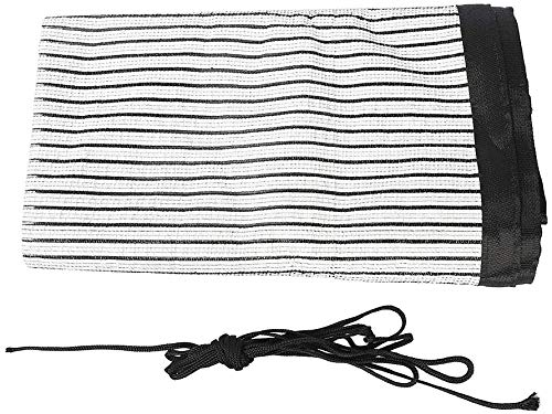 (1 Pack 71×36Inch) Shade Cloth Net Black UV Resistant, Garden Shade Mesh Tarp for Plant Cover,Shade Fabric Sun Shade Cloth with Grommets