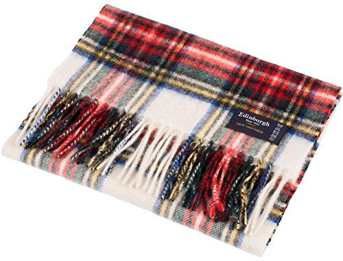 I Luv Ltd Unisex Cashmere Scarves In Stewart Dress Tartan Design 26cm Wide