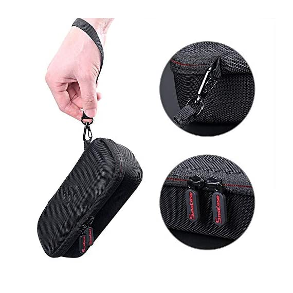 """Smatree Hard Carrying Case Compatible with DJI Osmo Pocket 2/Osmo Pocket, Extension Rod, OSMO Pocket Waterproof Case and… 5 Size: Small, Dimensions: 7.6"""" x3.5"""" x2.8"""" compact and easy to store in backpacks or carry-on luggage; recommend for traveling and home storage. Nice shaped compartments fit for osmo pocket, it can holds 1 x osmo pocket,4 x Neutral density filters,2 x SD Cards,2 x Smartphone Adapter(Refer to pictures). With comfortable hand strap for easy carrying. The hand strap can be easily attached to a belt or large bag."""