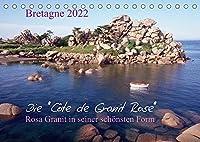 Bretagne, die Côte de Granit Rose, rosa Granit in seiner schoensten Form.CH-Version (Tischkalender 2022 DIN A5 quer): Die Côte de Granit Rose hat viele Kuenstler zu ihren Bildern und Skulpturen inspiriert. (Monatskalender, 14 Seiten )