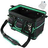 AIRAJ 16 Multifunktionale Werkzeugtasche,breite Oberseite,tragbare Aufbewahrungstasche mit wasserdichter Gummi-Unterseite,geeignet für Werkzeug-Aufbewahrungstasche für Elektriker