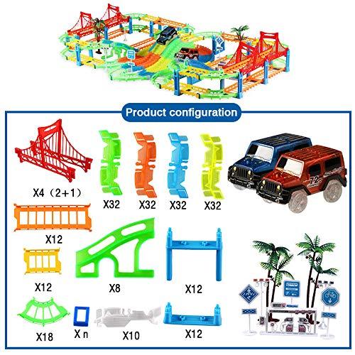 YDKJ Tren de Juguete Pista, Vía de Tren de Juguete Flexible Vía de Tren Regalo de Coches de Juguete para 3 4 5 6 años de Edad Niños Niñas,04